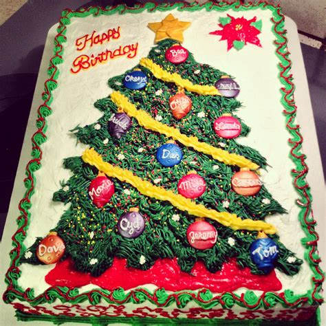 happy birthday christmas cakes a birthday cake for a large each person represented with an ornament the