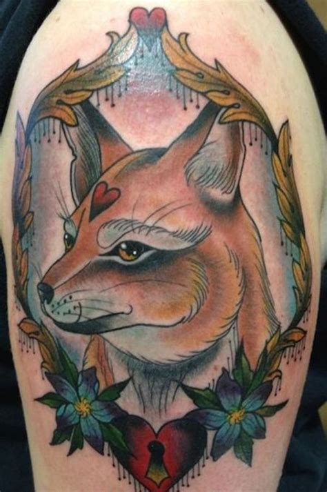traditional fox tattoo traditional fox
