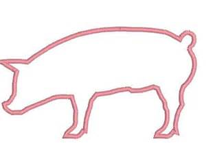 Pig Outline Embroidery Designs by Farm Animal Design Etsy
