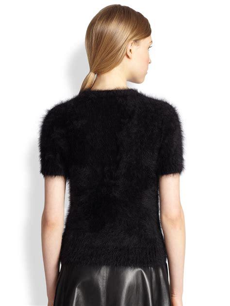 Michael Sweater Black Limited 1 lyst michael kors featherweight angora shortsleeve