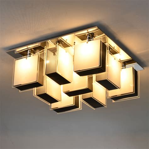 modern creatived aluminum glass desk ceiling light