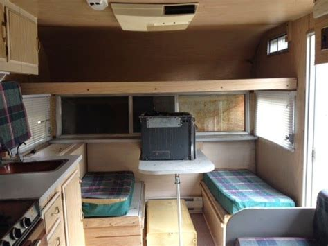 Each step of renovating the inside of a 16 foot Travelaire