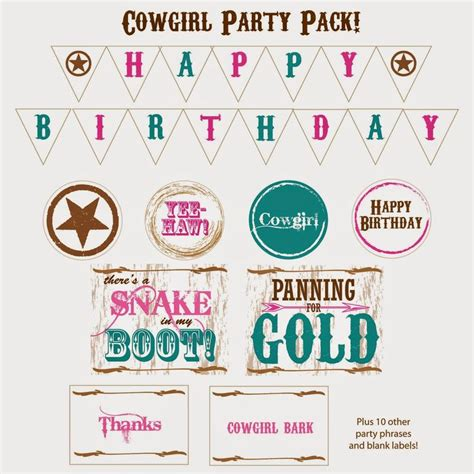 printable cowgirl birthday banner 17 best images about cowgirl party on pinterest cowboy