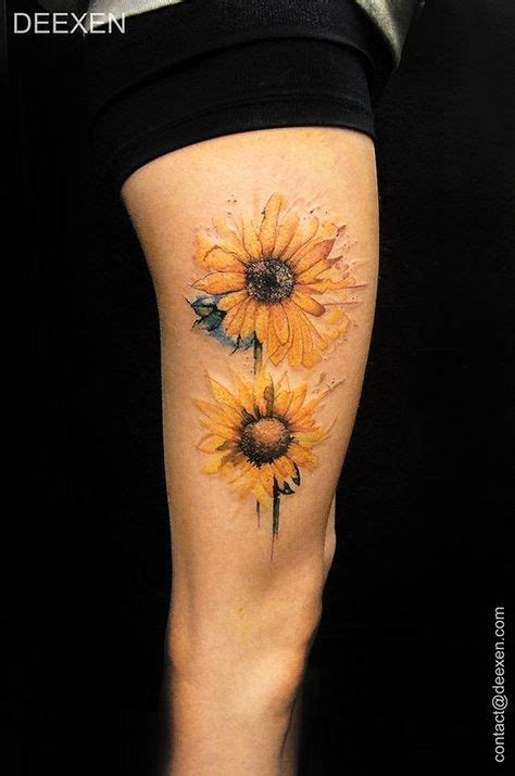 watercolor tattoo yahoo best 25 sunflower sleeve ideas on