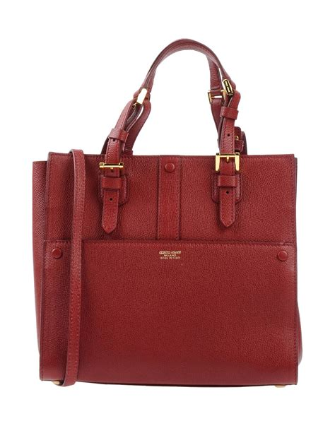 Bag Giorgio Armani 818 2 lyst giorgio armani handbag in purple
