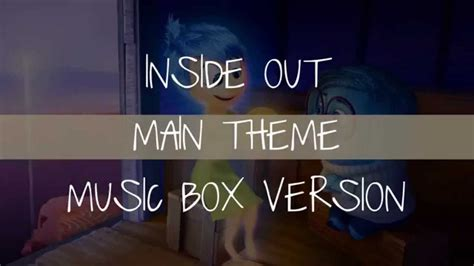 theme song inside out inside out main theme music box cover youtube