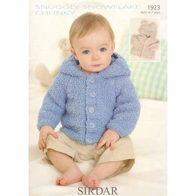 snowflake knitting pattern for jumper jacket in sirdar snuggly snowflake chunky 1923