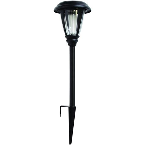 Path Lighting Fixtures Hton Bay Solar Black Outdoor Integrated Led Landscape