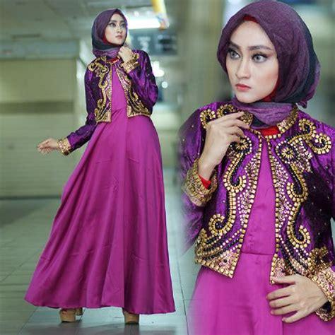 Baju Gamis Untuk Pesta model baju muslim gamis untuk pesta terbaru mewah dan