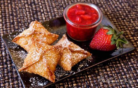Terbaru Pasta Vanilla Golden Brown strawberry cheesecake wontons barbara bakes