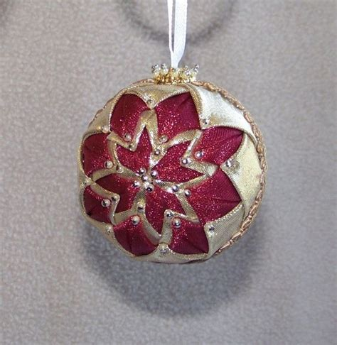 Handmade Balls Ornaments - small handmade quilt quilted ornament