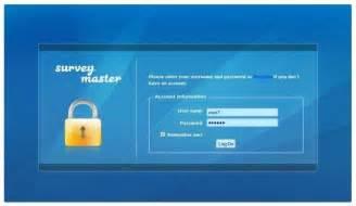 asp login page template survey master sourceforge net