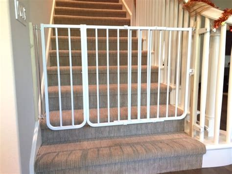 Baby Gate Installation At Bottom Of Stairs With Custom Banister Kit To Mount To Spiral