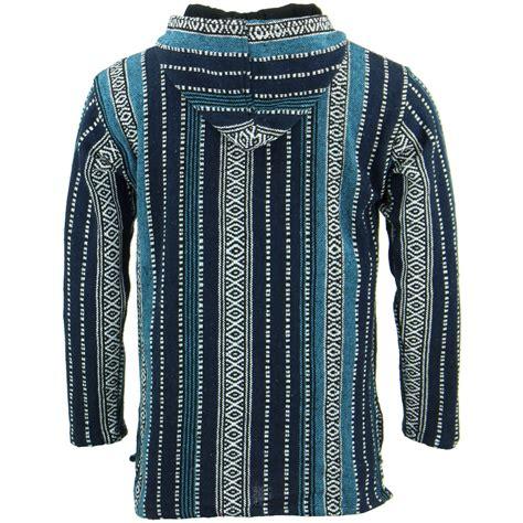 baja rug hoodie hoodie jumper baja jerga rug loudelephant hoody hooded hippy jacket ebay
