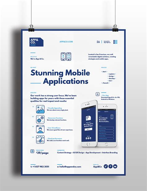 mobile app poster templates on behance gt gt 15 beaufiful