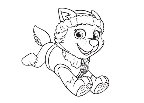 paw patrol mer pup coloring page everest coloring page paw patrol paw pinterest