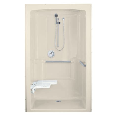 Acrylic Shower Units Shop Kohler Almond Acrylic One Shower Common 38 In