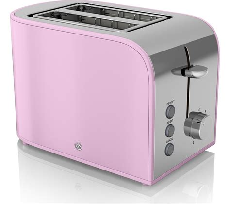 retro small kitchen appliances buy swan retro st17020pn 2 slice toaster pink free