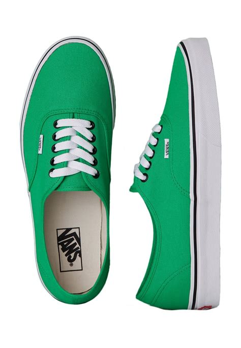 green and black shoes vans authentic bright green black shoes impericon uk