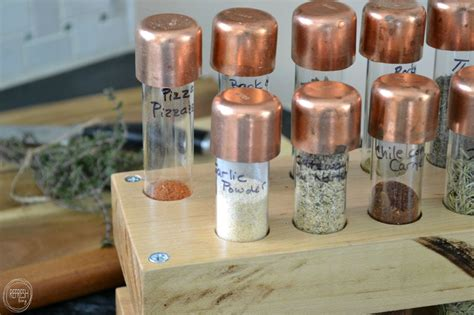 diy test spice rack hometalk diy spice rack with test and copper accents