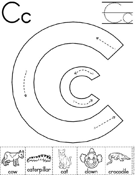 kindergarten up letter alphabet letter c worksheet preschool printable activity