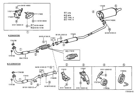 2004 toyota camry exhaust system diagram toyota camry exhaust parts diagram toyota auto parts