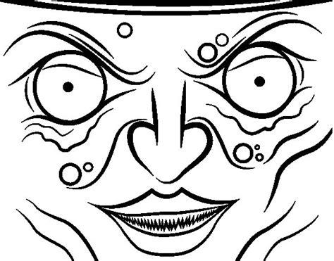 Imagenes Para Pintar La Cara De Bruja | dibujo de cara de bruja para colorear dibujos net