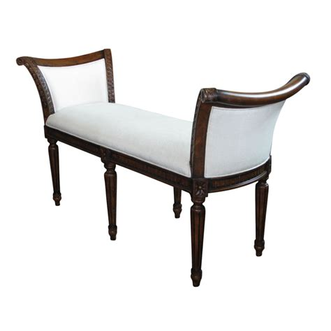 french provincial bench european design french provincial louis xv window bench