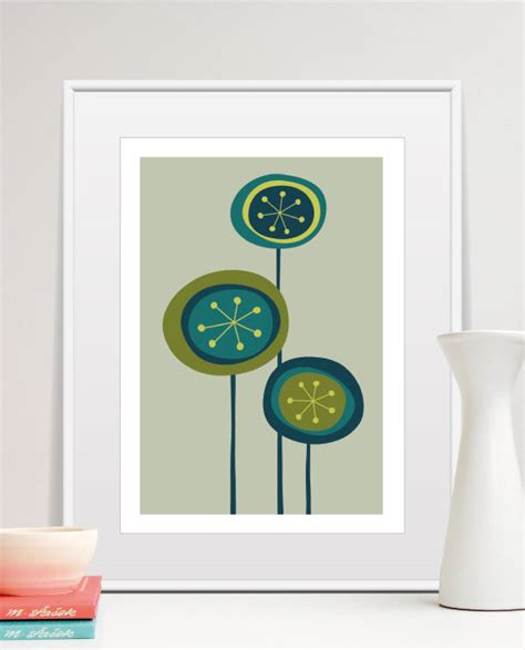 mid century wall decor mid century modern scandinavian wall flowers by