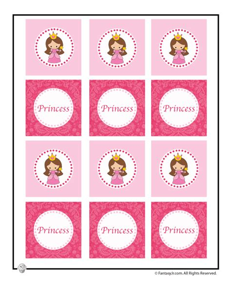 printable princess party decorations printable cupcake toppers for a princess party woo jr