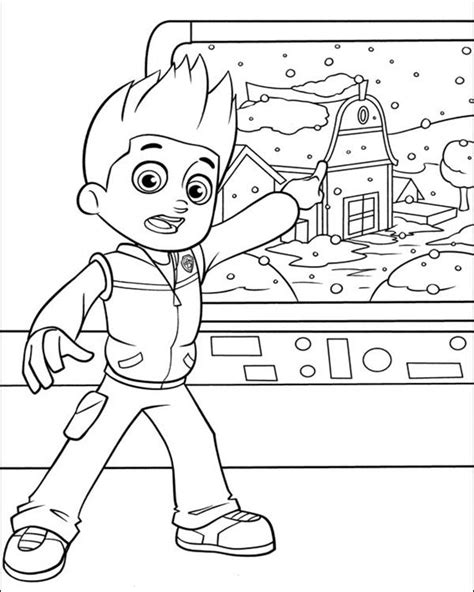paw patrol lookout coloring page printable paw patrol coloring page coloring home