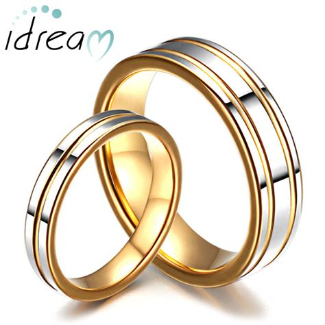 Wedding Rings For Couples by Two Tone Tungsten Wedding Bands Set For And
