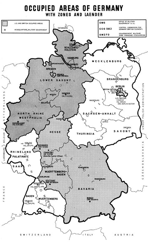 map of germany in 1945 history the german press in the us occupied area 1945