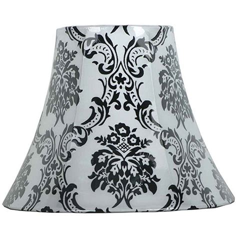 Black And White Damask L Shade by Homeofficedecoration Damask L Shade Black And White