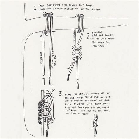 how to hang a swing in a tree how to tie a rope for a tree swing good ideas