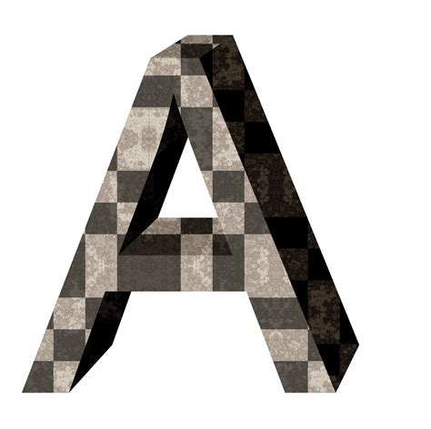 Brown 3d Letter A Free Stock Photo - Public Domain Pictures A