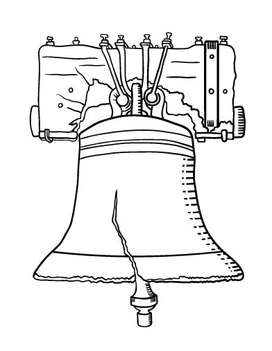 Liberty Bell Coloring Page Printable by Printable Liberty Bell Coloring Page Free Pdf At