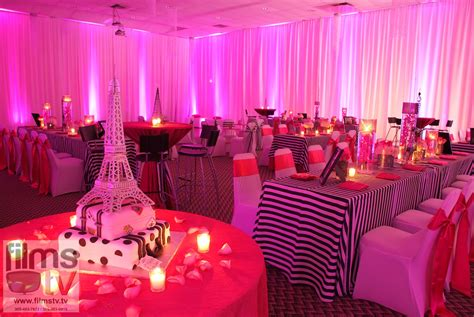 paris themed party entertainment ideas a stylish sweet 16 table setup bookingentertainment best