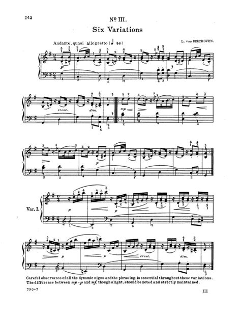 definition theme and variations in music woo 77 6 easy variations on an original theme free sheet