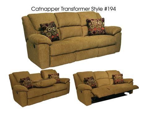 catnapper transformer reclining sofa catnapper transformer sofa with 3 recliners 1