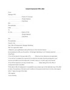 template offer of employment letter sle employment offer letter hashdoc