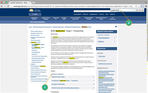 Find In Bc Navigation Search Tips Province Of Columbia