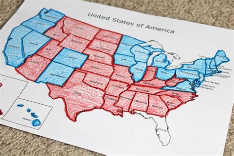 us political map states election day activities for children who arted