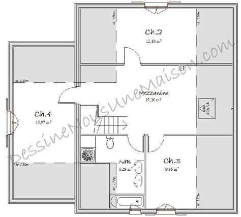 plan de maison avec 4 chambres plan maison en l avec 4 chambres