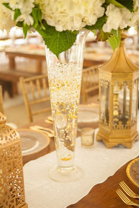 Wedding Vases by Gold Sequin Wedding Vases That Shimmer Mon Cheri Bridals