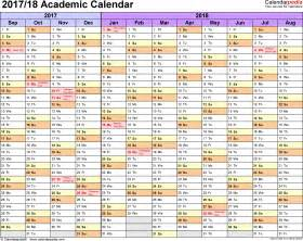 Calendar 2018 Qut Academic Calendars 2017 2018 As Free Printable Excel Templates