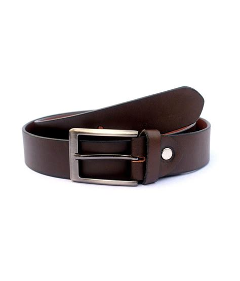 tops brown leather belt buy at low price in