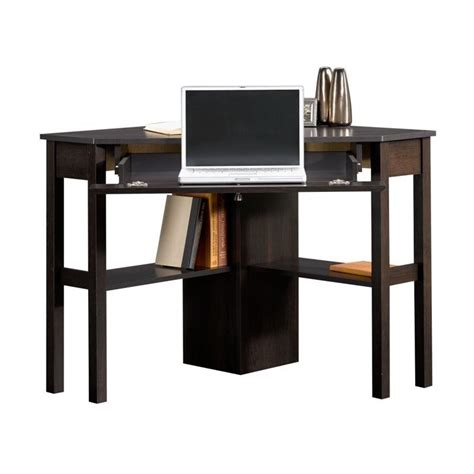 sauder beginnings corner cnc cinnamon cherry computer desk