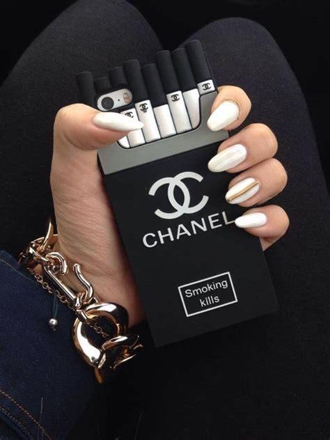 funda iphone chanel phone con funda de cigarrillos de chanel kaaa