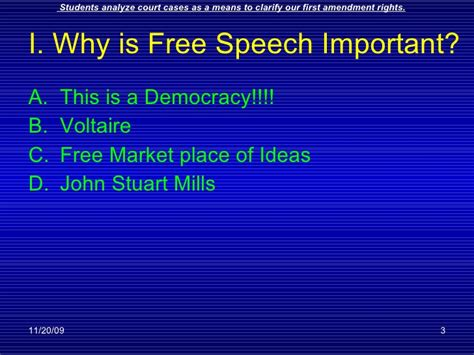 chapter 19 section 3 freedom of speech and press ch 19 sec3 speech and press